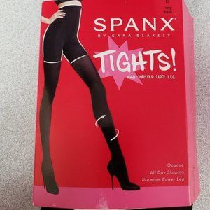 High Waisted Lux Leg Tights, Charcoal